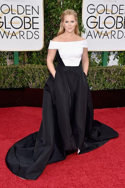 BEVERLY HILLS, CA - JANUARY 10:  Actress Amy Schumer attends the 73rd Annual Golden Globe Awards held at the Beverly Hilton Hotel on January 10, 2016 in Beverly Hills, California.  (Photo by John Shearer/Getty Images)
