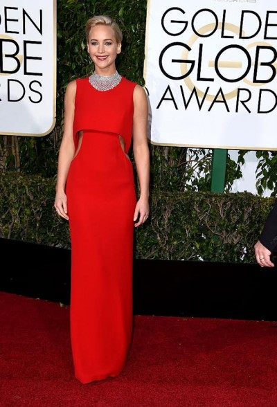 BEVERLY HILLS, CA - JANUARY 10:  Actress Jennifer Lawrence attends the 73rd Annual Golden Globe Awards held at the Beverly Hilton Hotel on January 10, 2016 in Beverly Hills, California.  (Photo by Steve Granitz/WireImage)