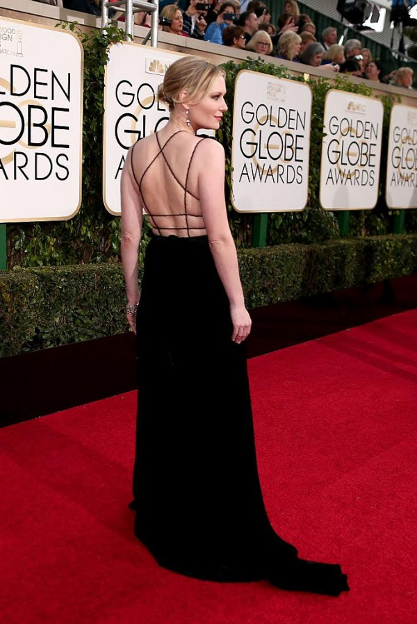BEVERLY HILLS, CA - JANUARY 10:  73rd ANNUAL GOLDEN GLOBE AWARDS -- Pictured: Actress Kirsten Dunst arrives to the 73rd Annual Golden Globe Awards held at the Beverly Hilton Hotel on January 10, 2016.  (Photo by Christopher Polk/NBC/NBCU Photo Bank via Getty Images)