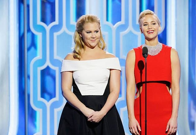 This is not a drill: Amy Schumer and Jennifer Lawrence hung out at the Golden Globes