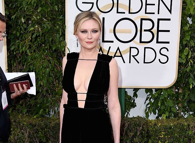 BEVERLY HILLS, CA - JANUARY 10:  Actress Kirsten Dunst attends the 73rd Annual Golden Globe Awards held at the Beverly Hilton Hotel on January 10, 2016 in Beverly Hills, California.  (Photo by Steve Granitz/WireImage)