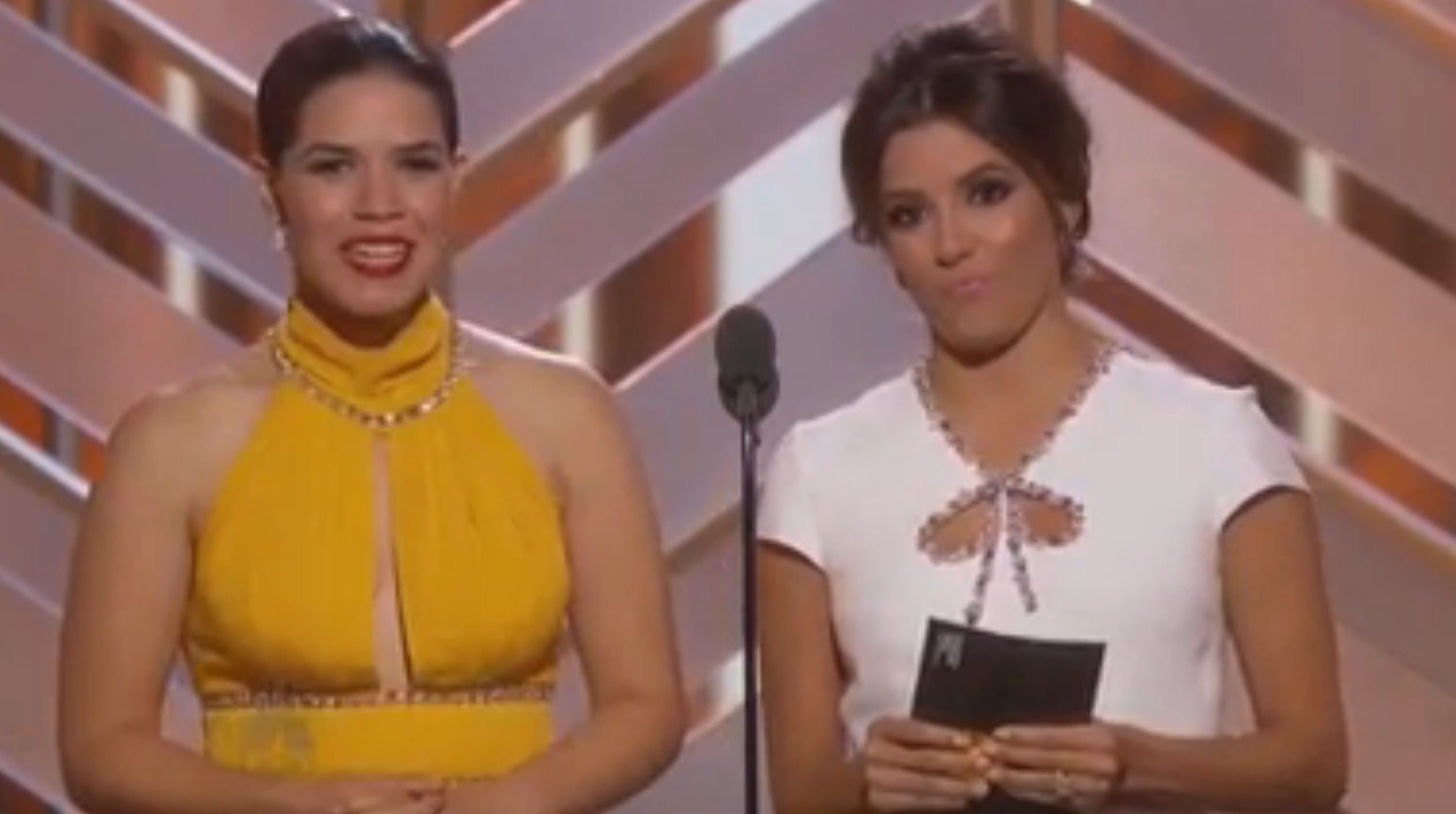 Eva Longoria and America Ferrera perfectly called out industry racism last night