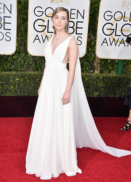 BEVERLY HILLS, CA - JANUARY 10:  Actress Saoirse Ronan attends the 73rd Annual Golden Globe Awards held at The Beverly Hilton Hotel on January 10, 2016 in Beverly Hills, California.  (Photo by George Pimentel/WireImage)