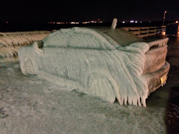 This car encased in ice is the stuff of our winter nightmares