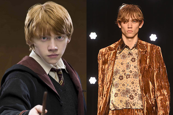 People can't handle this male model who looks like a long lost Weasley