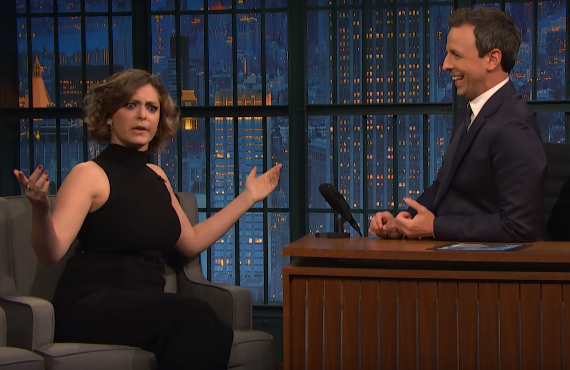 Rachel Bloom was Seth Meyers' intern and has some stories to share