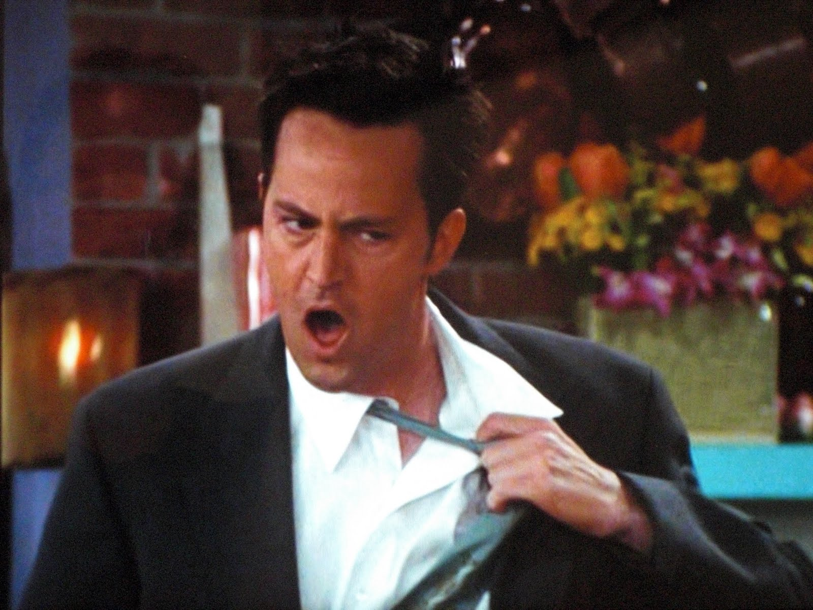 "Matthew Perry takes ""The Chandler Bing Quiz,"" gets answers (mostly) right"
