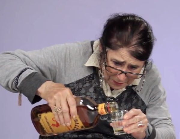 Grandmas trying Fireball Whiskey for the first time is exactly as great as you'd expect