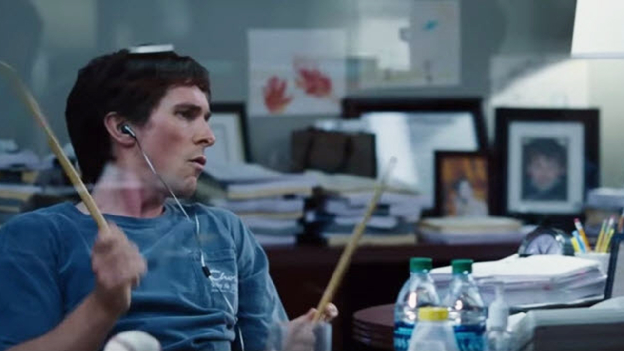 """Christian Bale learned to play the drums in two weeks for """"The Big Short"""" because of course he did"""