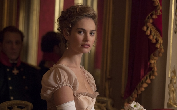 Picture shows: Natasha (LILY JAMES)                  **Strictly embargoed for publication**                                  EMBARGOED UNTIL WEDNESDAY 12TH AUGUST - WAR AND PEACE EXCLUSIVE IMAGE - LILY JAME
