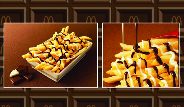 Book a flight to Japan because McDonald's has chocolate fries there now