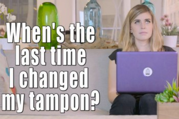 This video shows all the disturbing thoughts we have on our periods