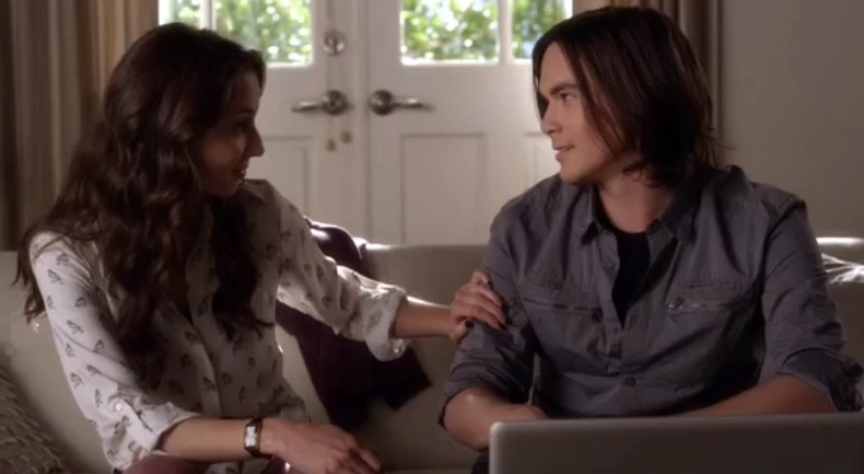 "Proof that Spencer and Caleb always had chemistry on ""PLL"""
