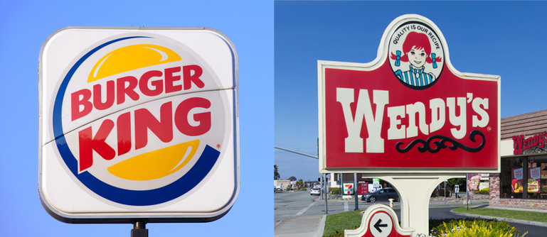 Wendy's and Burger King are throwing major shade at each other, and it's getting real
