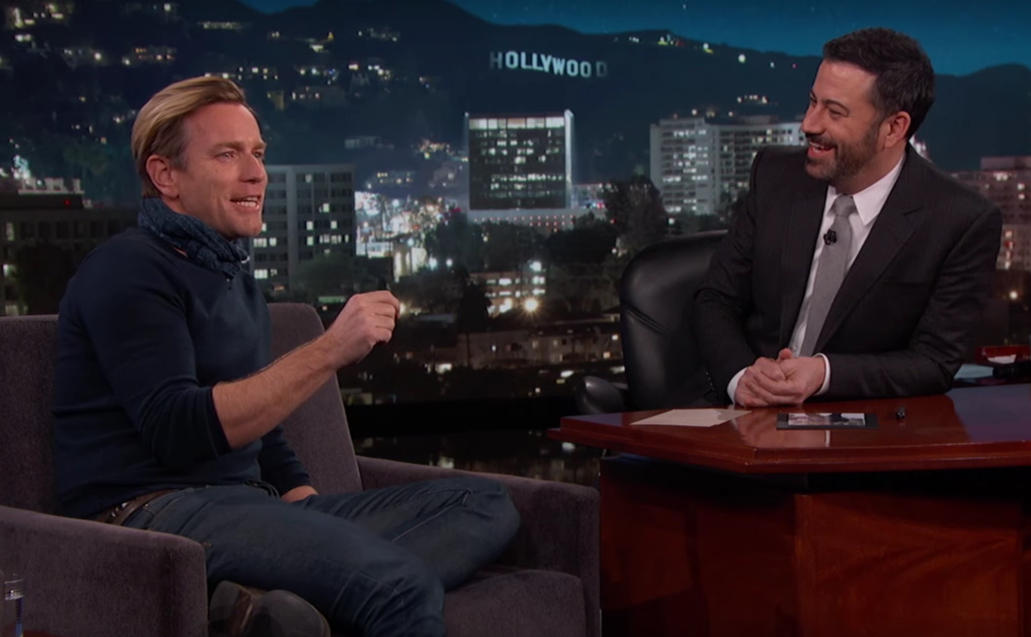 "Ewan McGregor tells Jimmy Kimmel about his sneaky cameo in ""Star Wars: The Force Awakens"""