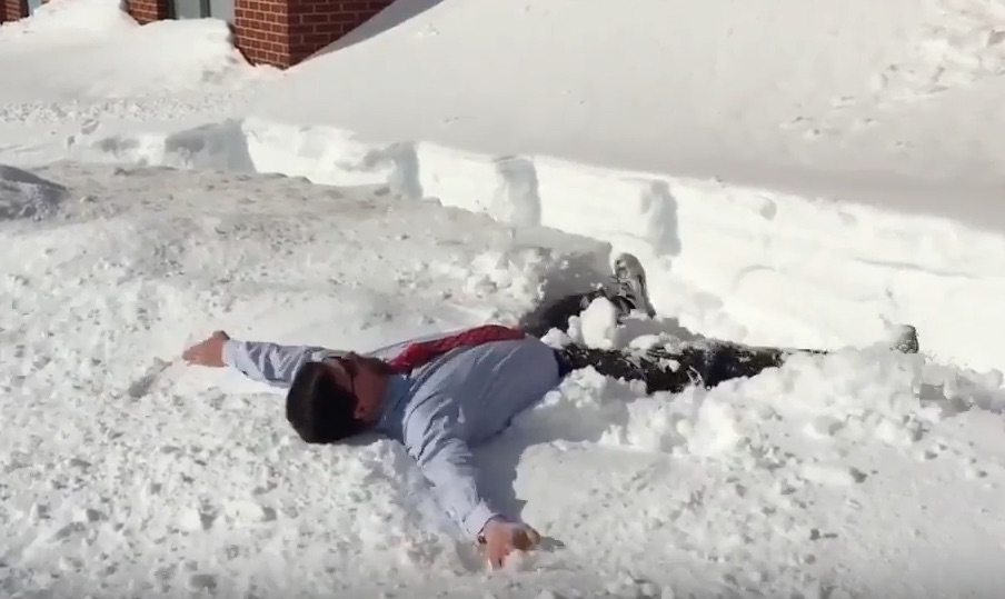This video shows that even principals love snow days, too