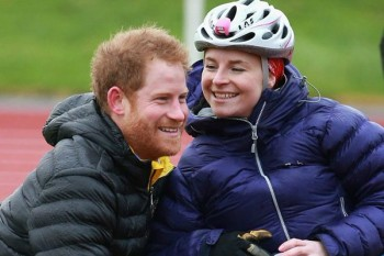 Prince Harry rescued a woman when her wheelchair fell over and the whole world swooned