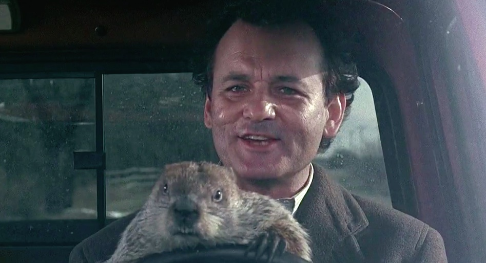 """Sky is playing """"Groundhog Day"""" on repeat in honor of Groundhog Day"""