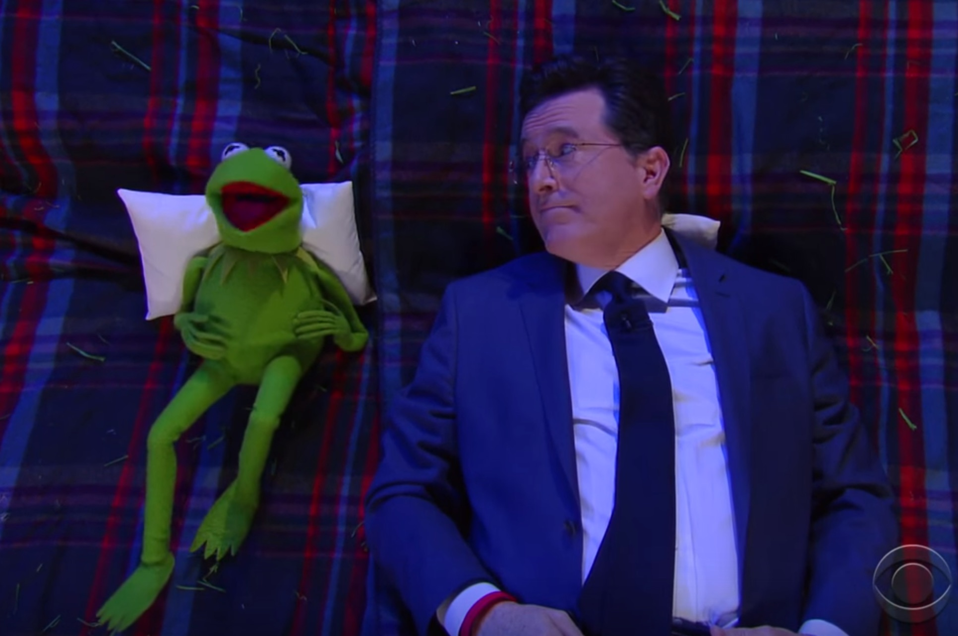 Stephen Colbert and Kermit the Frog ask each other life's biggest questions