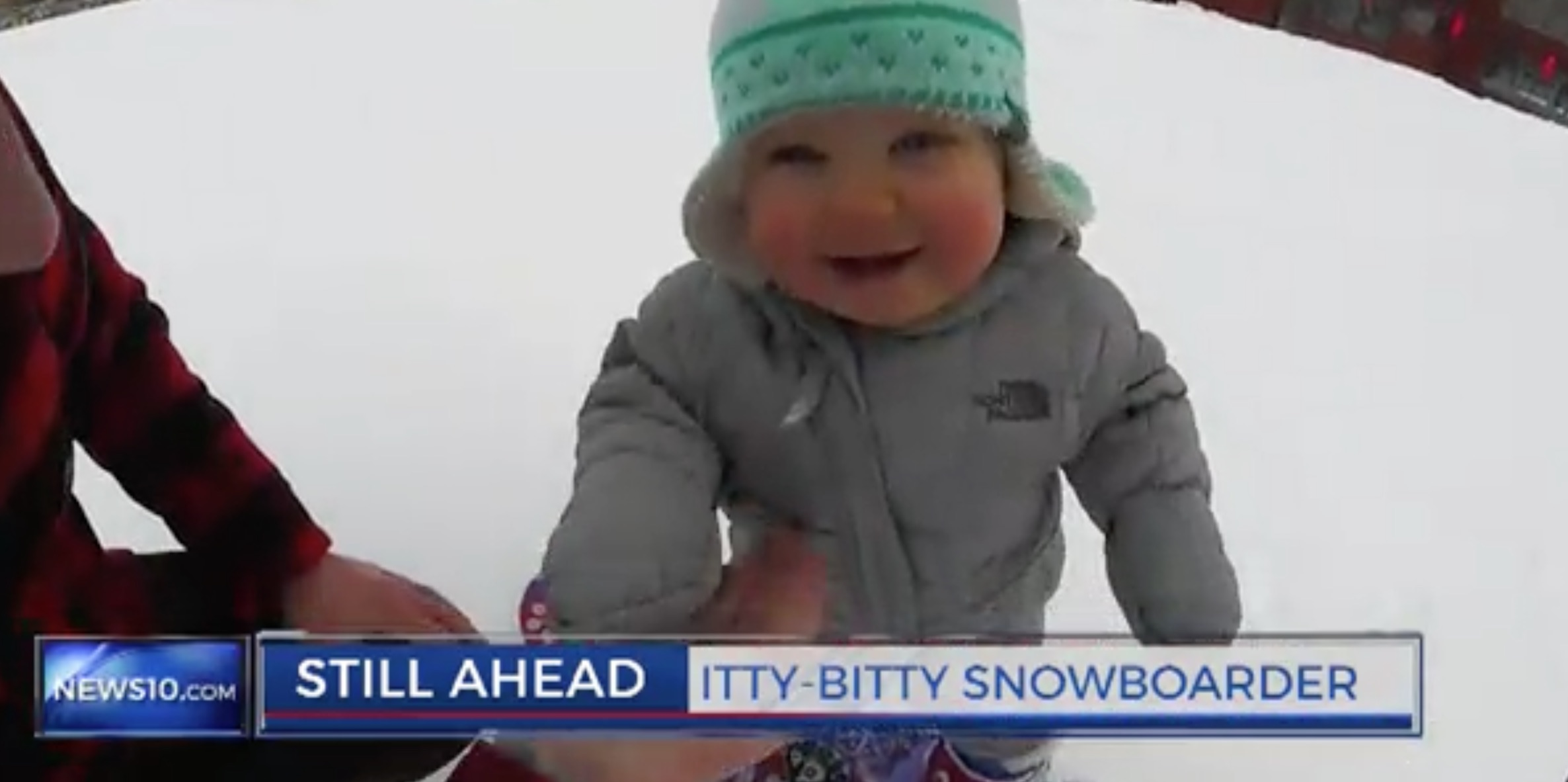 Snowboard baby has been alive for 14 months, is more athletic than you