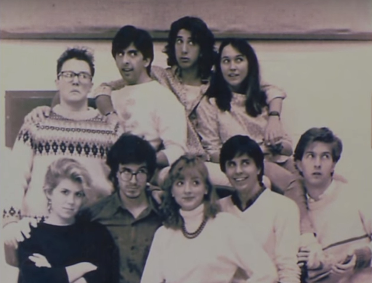 Stephen Colbert and David Schwimmer went to college together and have the picture to prove it