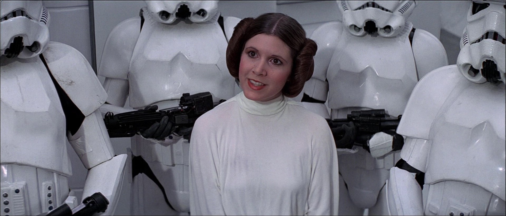 "Turns out Princess Leia came THIS close to being Sandy in ""Grease"""