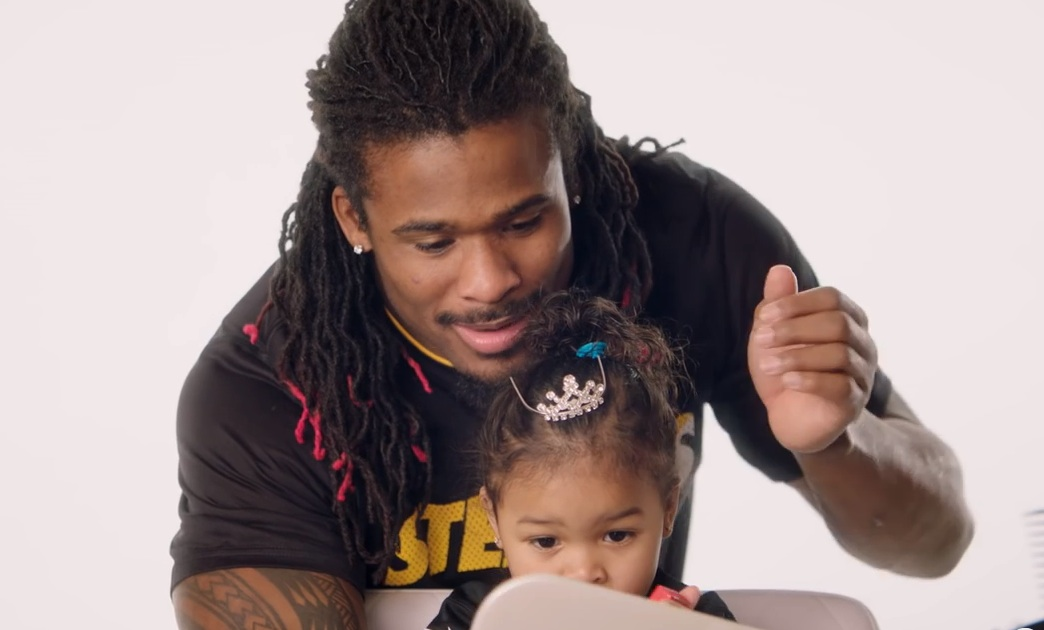 Watch these NFL players do their daughters' hair, because it's the cutest