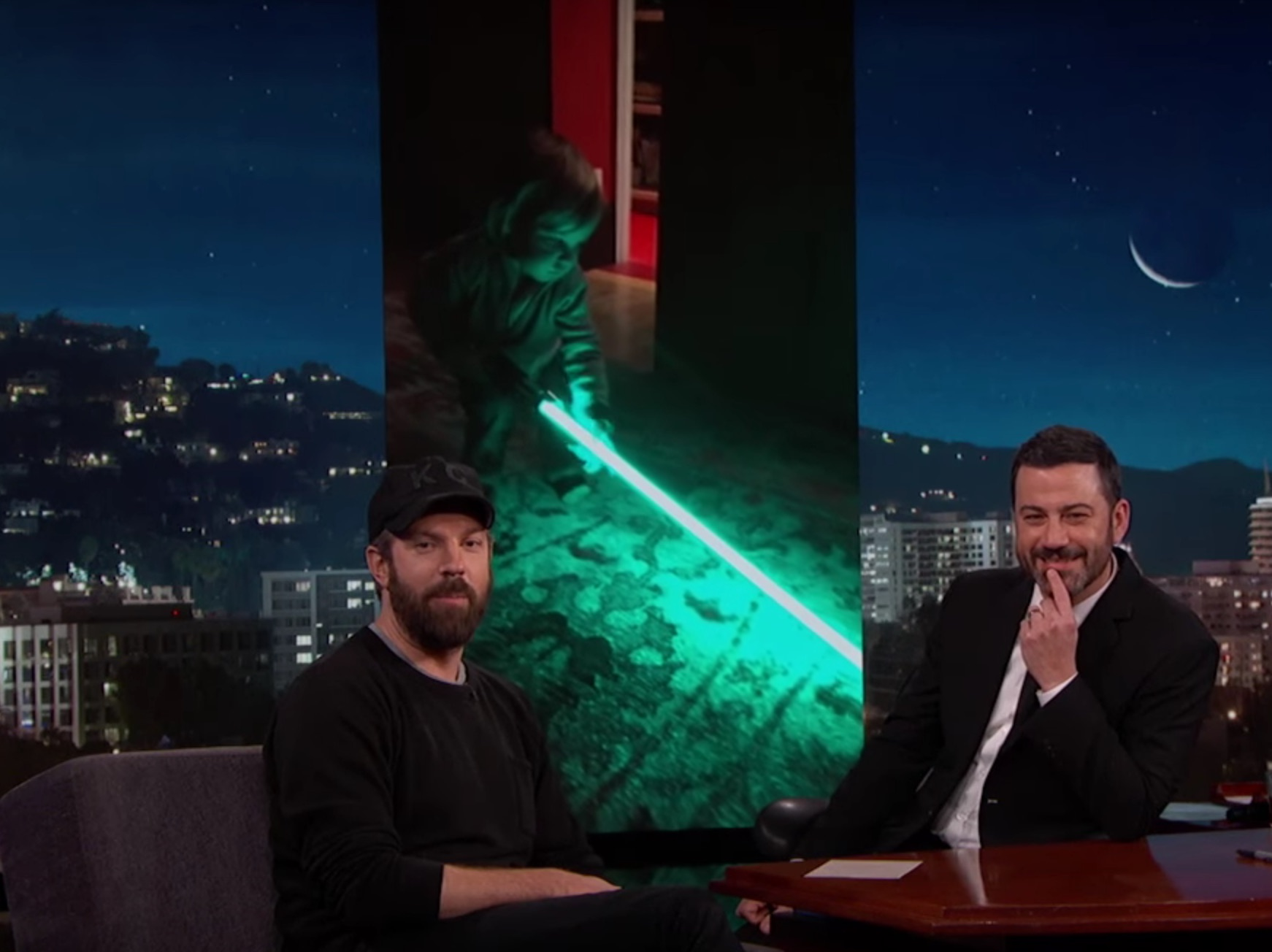 Watch Jason Sudeikis and Olivia Wilde's son have a hilariously hard time with his toy lightsaber