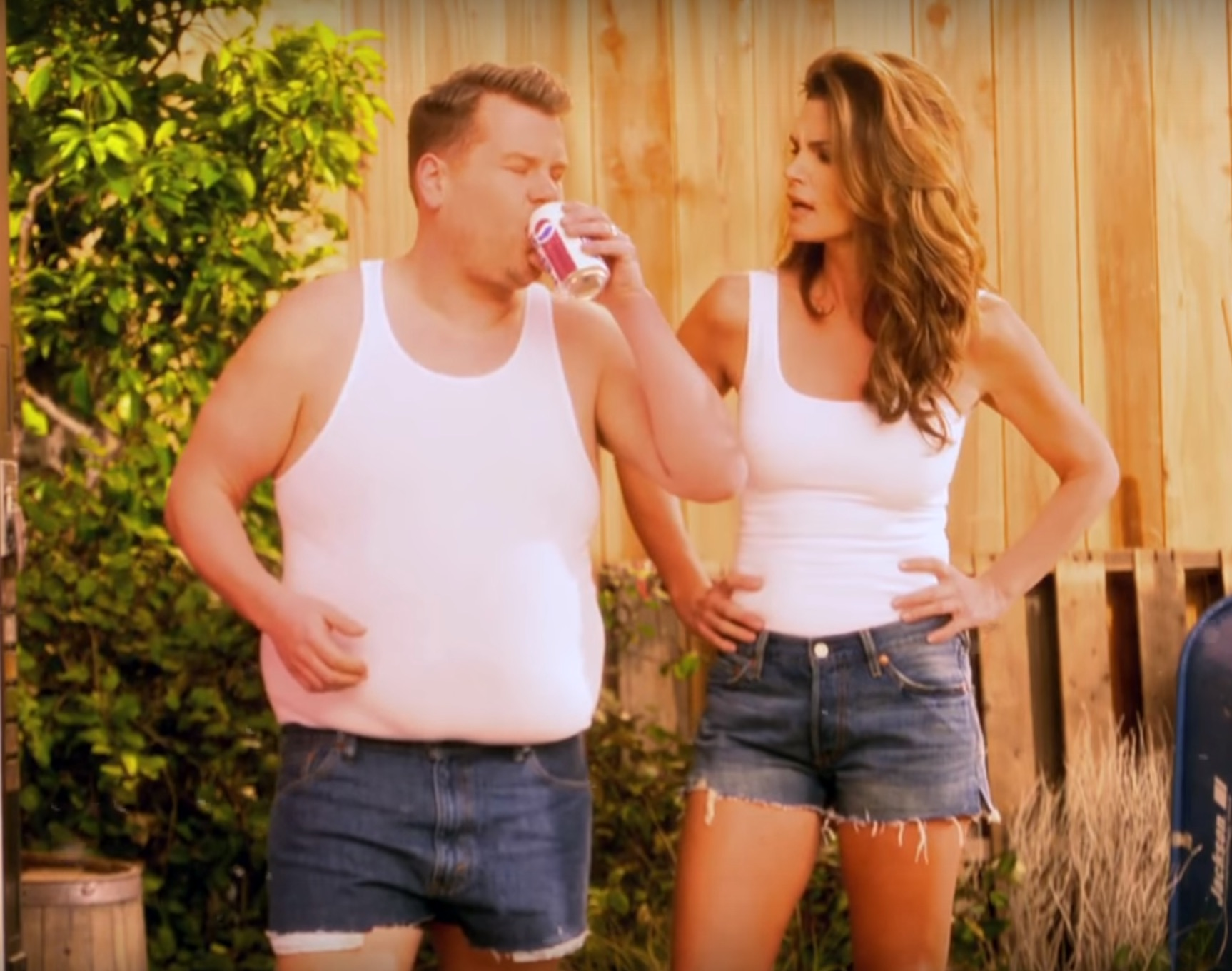 James Corden and Cindy Crawford brilliantly parodied her 1992 Pepsi commercial