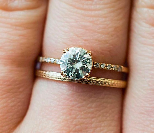 Wedding Ring Idea: 10 Ideas For Completely Unique Wedding Band Combos