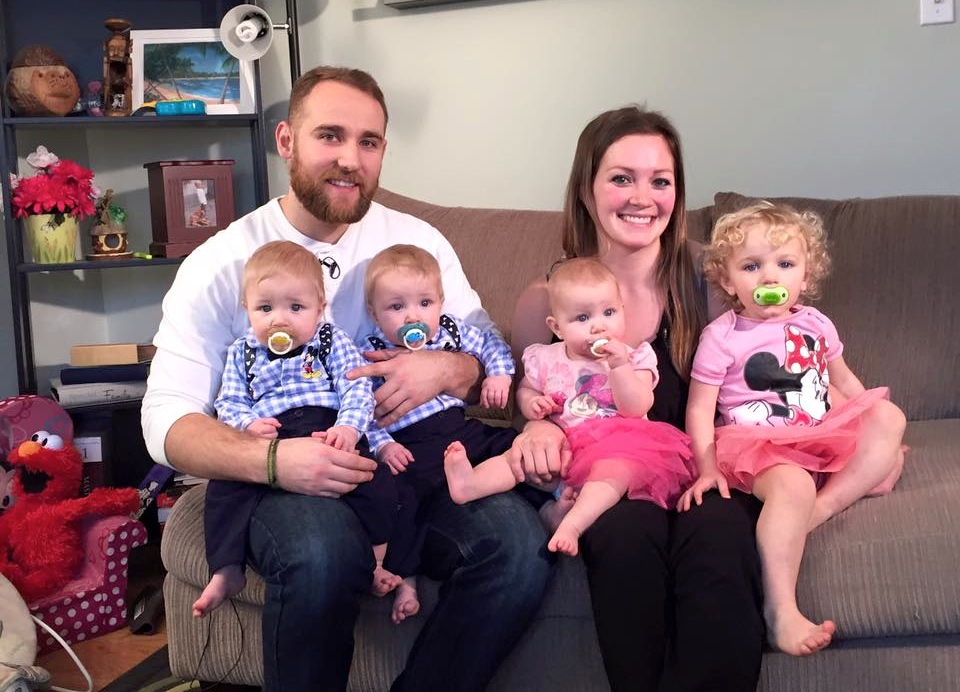 This jaw-dropping video of a super mom wrangling four babies at once is going viral