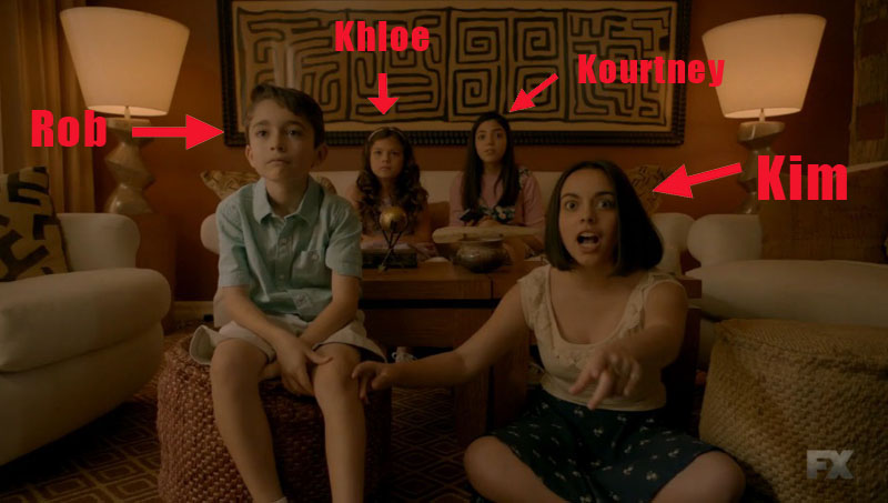 "We finally got a good look at the kids playing the young Kardashians on last night's ""American Crime Story"""