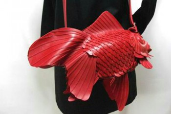 We can't stop staring at these otherworldly goldfish bags