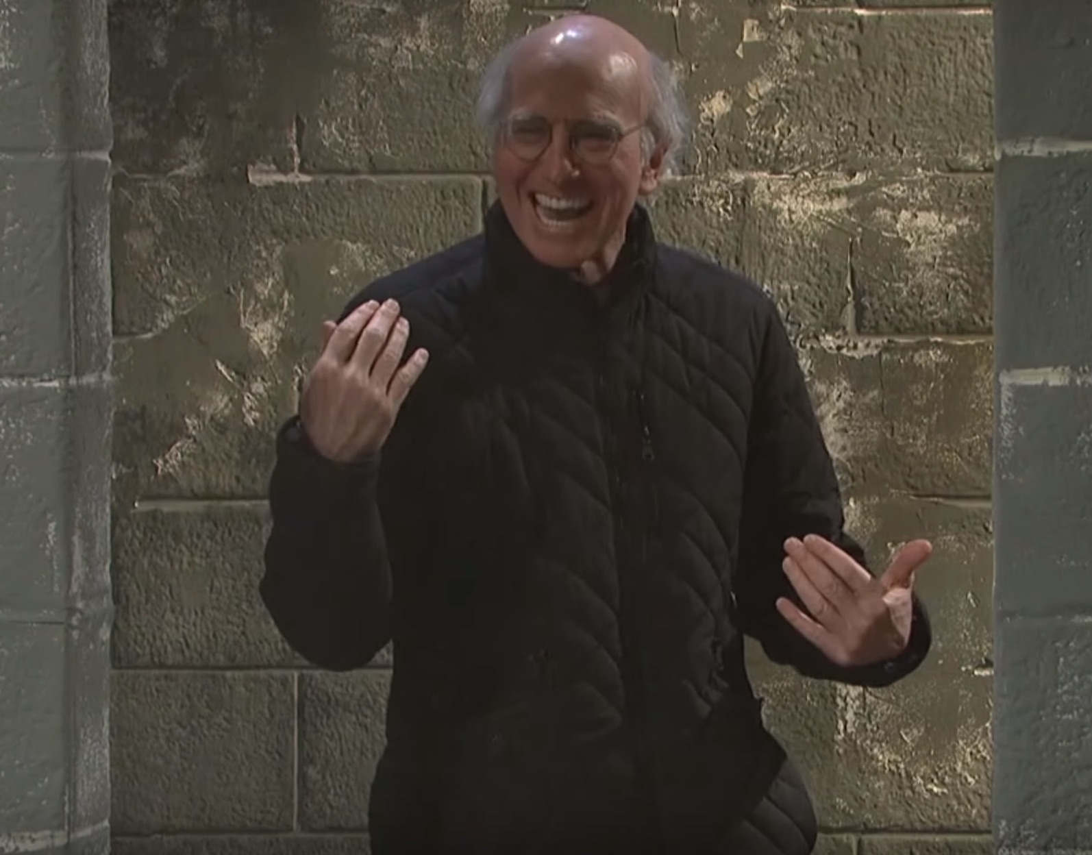 "Watch Larry David try and fail to keep a straight face during his ""SNL"" rehearsal"