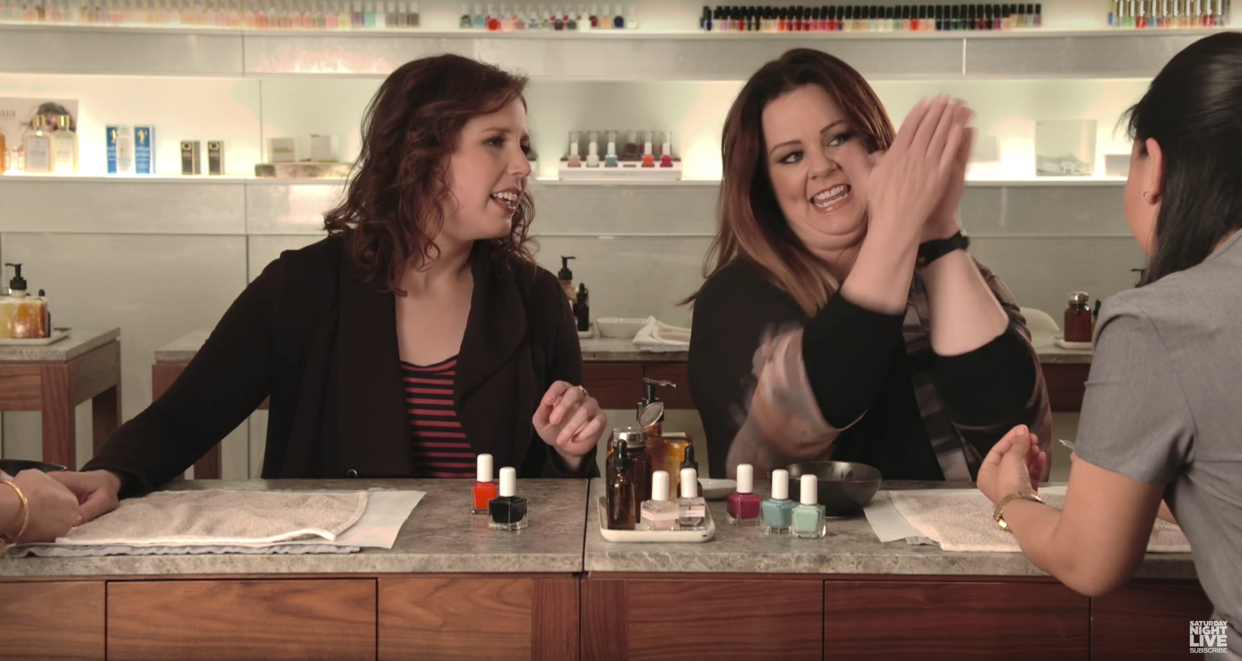 Melissa McCarthy just made up a bunch of nail polish color names, now we want them all