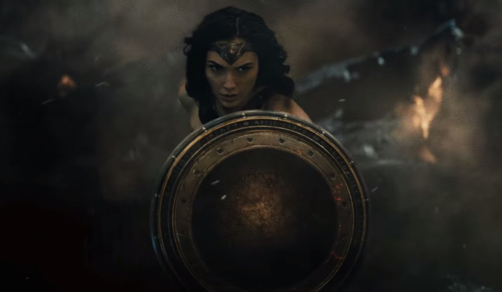 "And now, a look at kickass Wonder Woman in the brand new ""Batman v. Superman"" trailer"