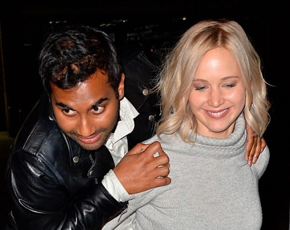 Jennifer Lawrence and Aziz Ansari spent a perfect Valentine's Day together