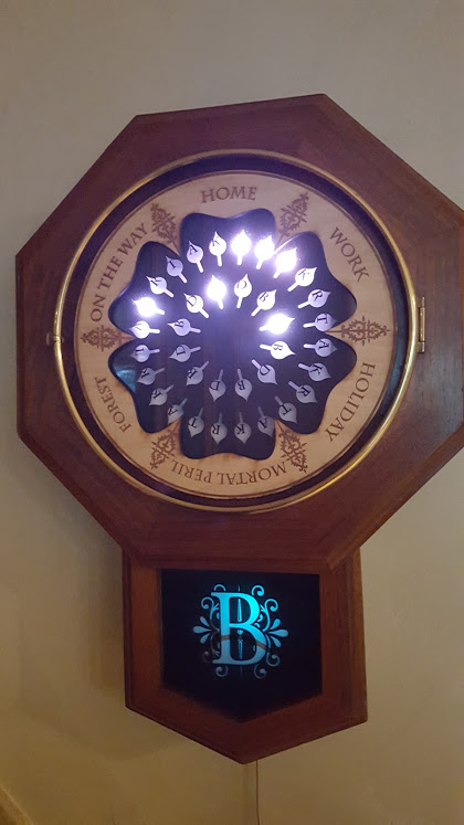 """A brilliant """"Harry Potter"""" fan made a DIY version of the Weasleys' magical clock"""