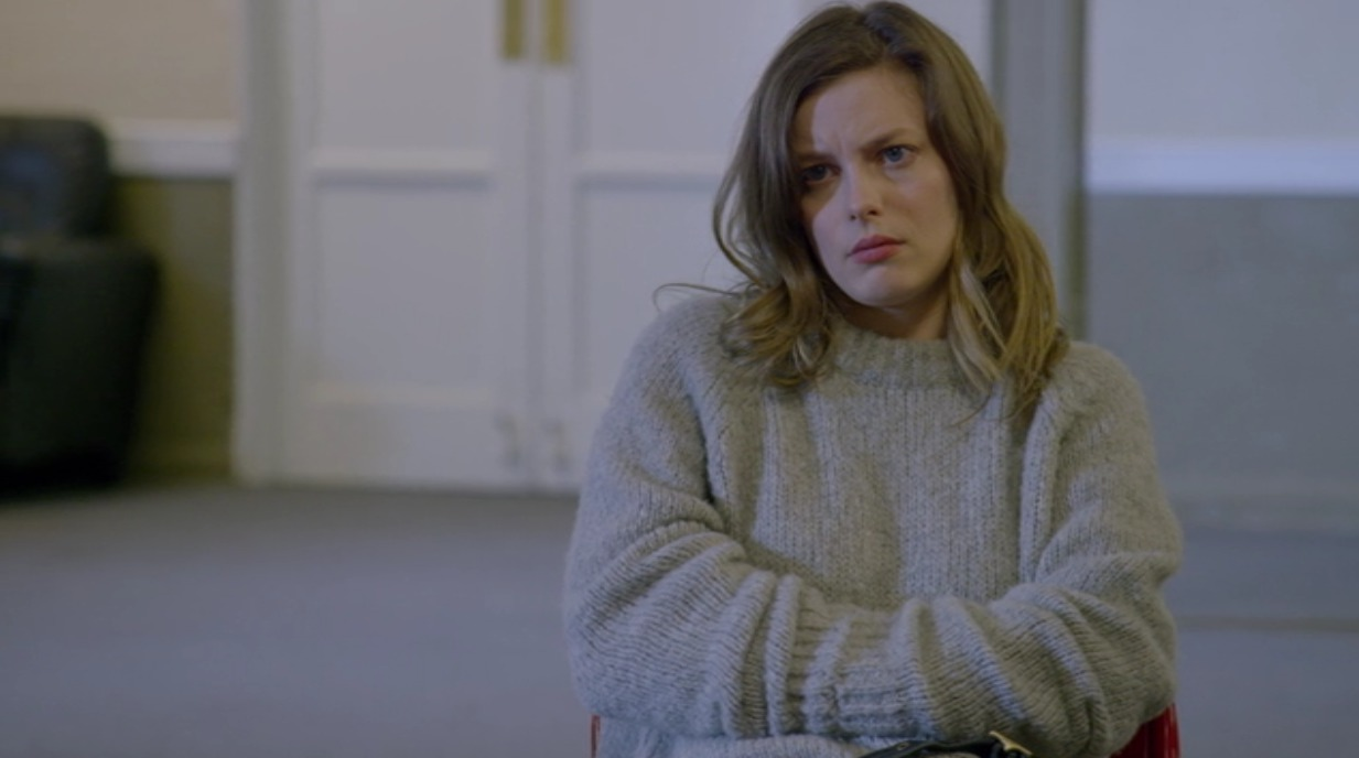 Picture of Gillian Jacobs Gray Sweater