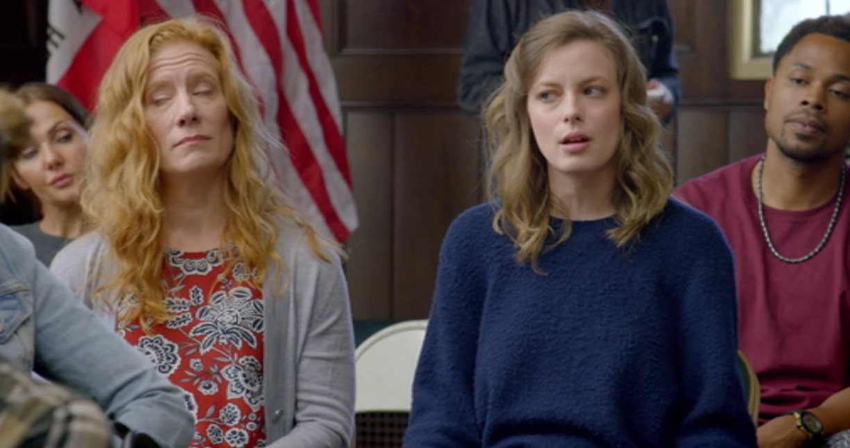 Picture of Gillian Jacobs Navy Sweater