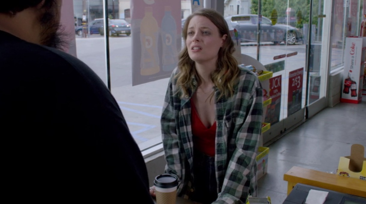 Picture of Gillian Jacobs Plaid Shirt