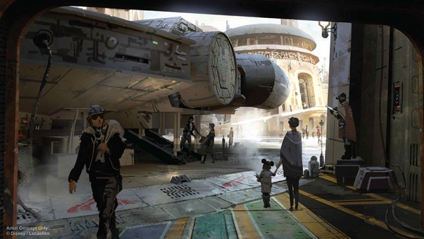 Here are the first official images of Star Wars Land, coming soon to a Disney Park near you