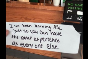 This Starbucks barista did something so simple and so kind for a deaf customer