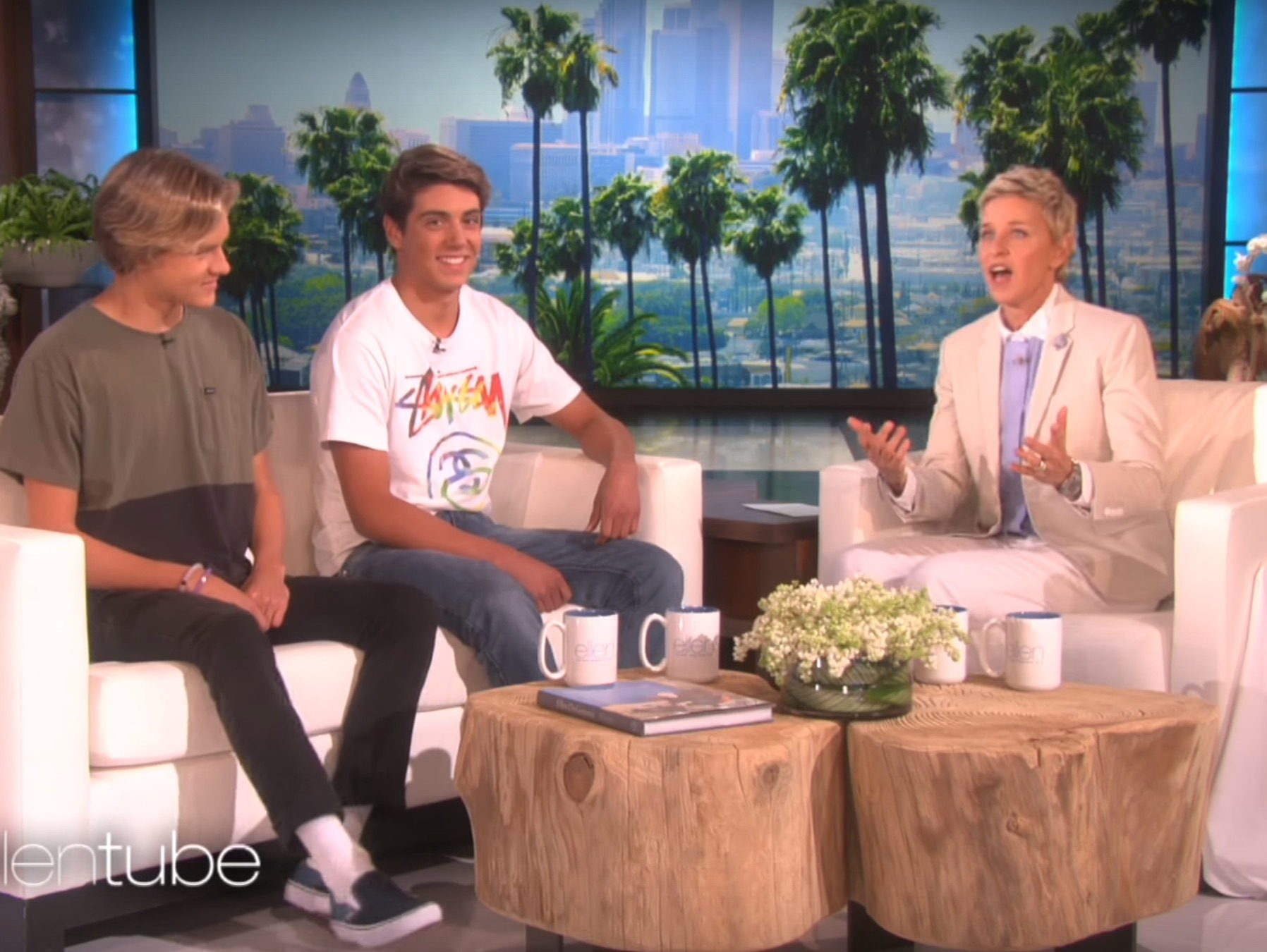"Ellen sits down with the boys behind ""Damn Daniel"""