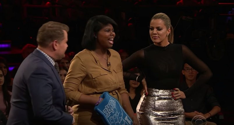 James Corden and Khloe Kardashian hosted a game of real-life Tinder