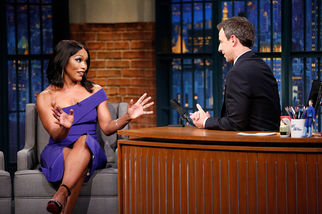 Angela Bassett tells Seth Meyers about going to Lady Gaga's party