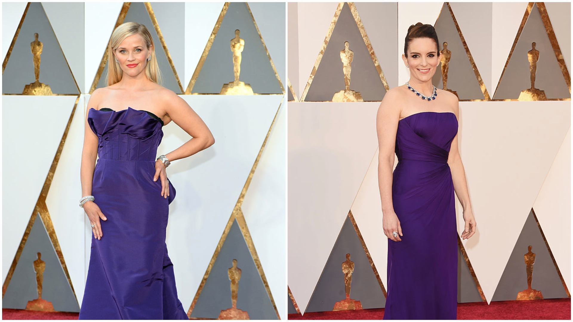 Tina Fey and Reese Witherspoon were totally #twinning at the Oscars