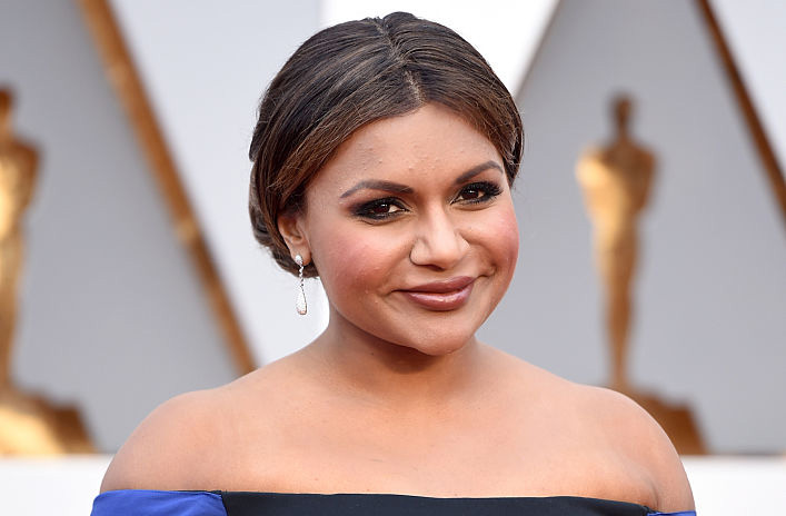Mindy Kaling's red dress basically makes her our new fall goddess