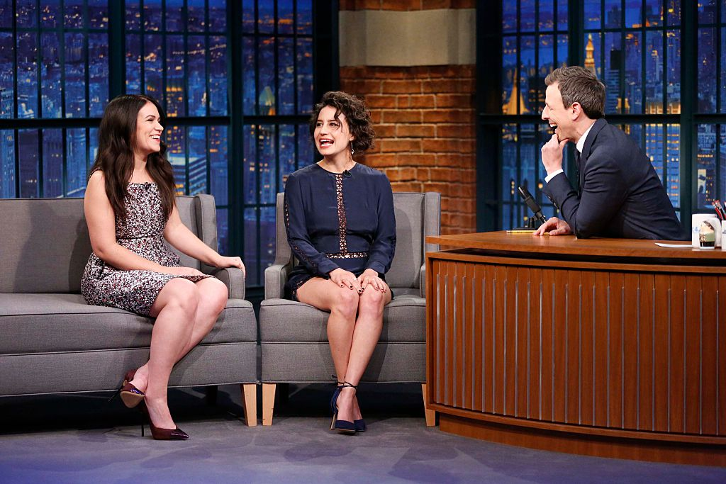 "The girls of ""Broad City"" tell Seth Meyers about working with Hillary Clinton"