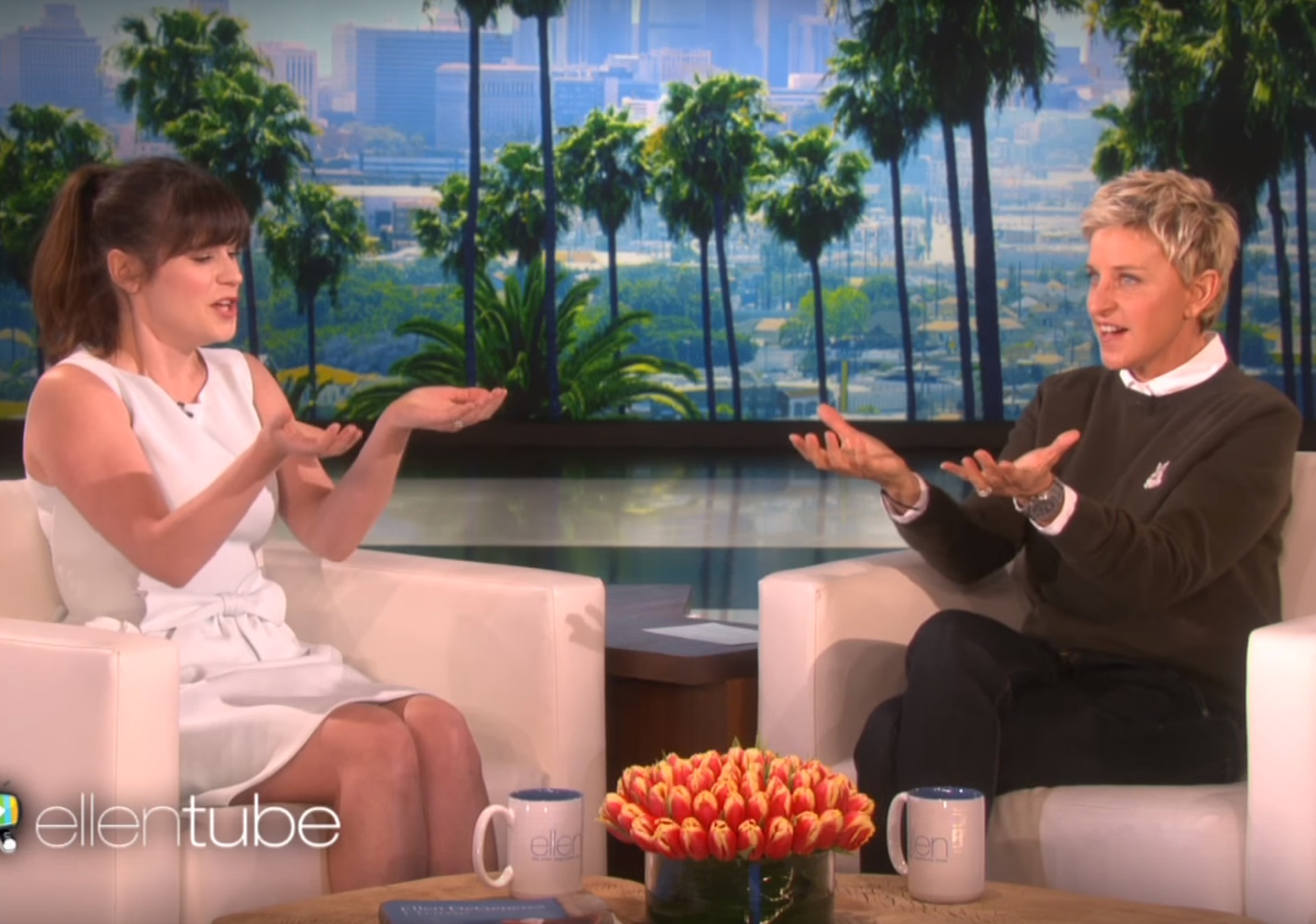 Zooey Deschanel tells Ellen why she named her daughter Elsie Otter